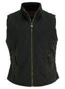 Ladies quilted oilskin vest 2177